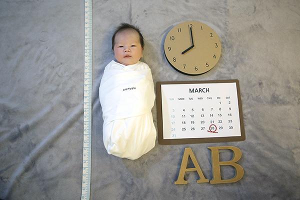라벨메르 [정여주 안태현] 신생아 사진